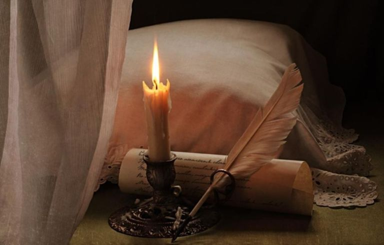 love_letter_lace_feather_candle_pillow_hd-wallpaper-305845