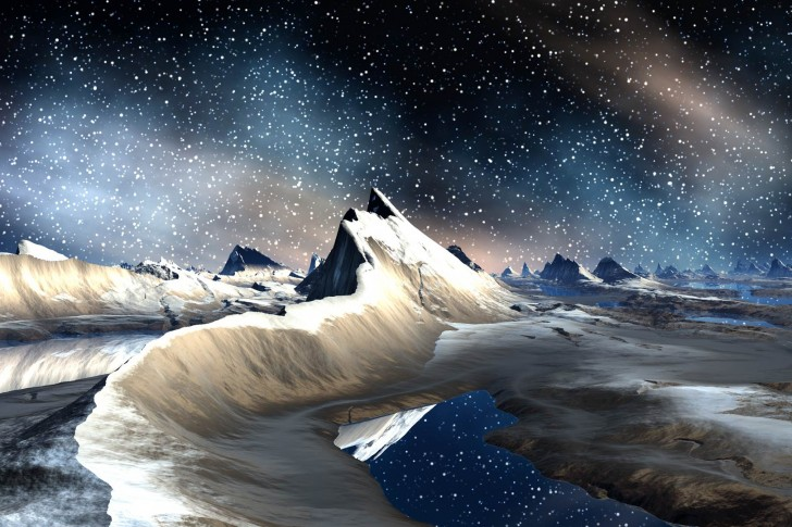 Image: http://www.listofimages.com/winter-moon-ice-moon-mountains-space-stars.html