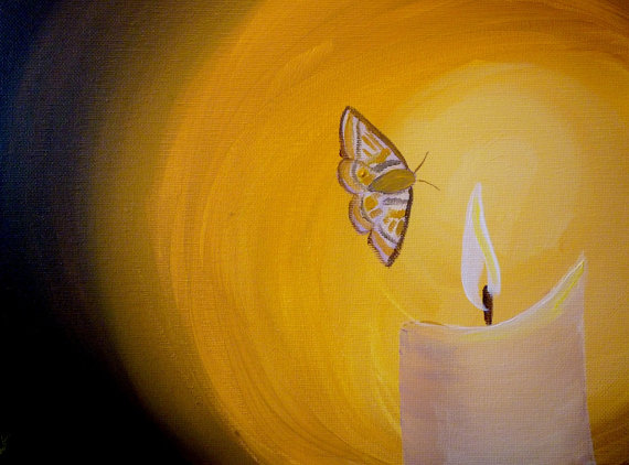 Moth to a Flame- Original Painting by Jamie Pitt (Jamie's Art) https://www.etsy.com/au/shop/JamiesArt?ref=l2-shopheader-name