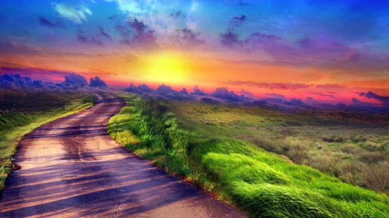 Image: http://hdwallpaper.freehdw.com/0001/nature-landscapes_hdwallpaper_sunset-path_4291.jpg