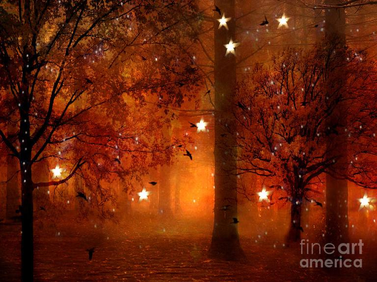 Image: http://images.fineartamerica.com/images-medium-large/surreal-fantasy-autumn-woodlands-starry-night-kathy-fornal.jpg