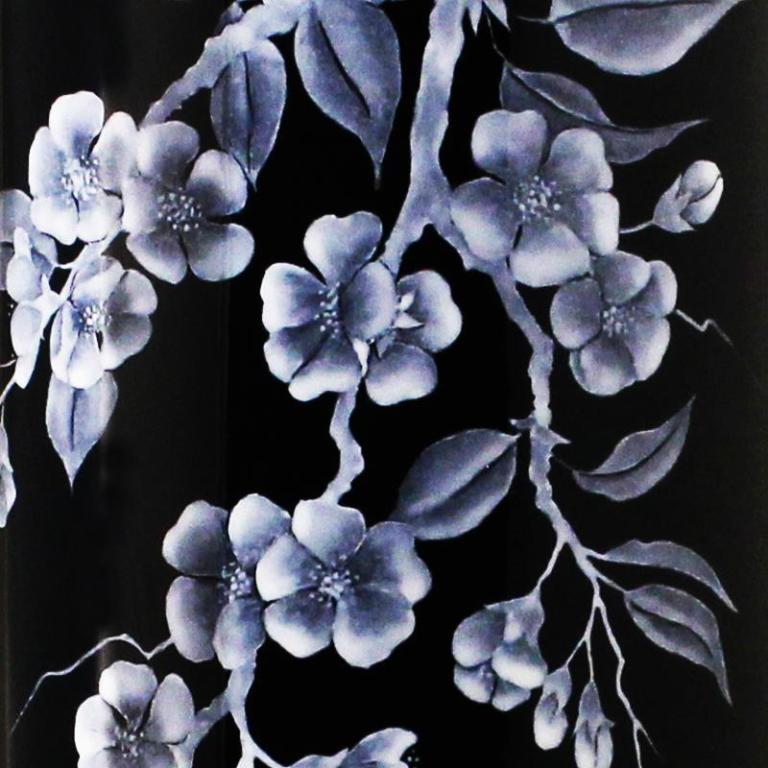 Black Cherry Blossom Section Vase 800