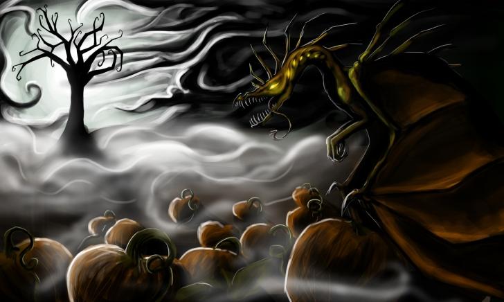 Image: https://mackenziesdragonsnest.files.wordpress.com/2014/10/halloween_dragon_by_laurorag12-d4b9239.jpg