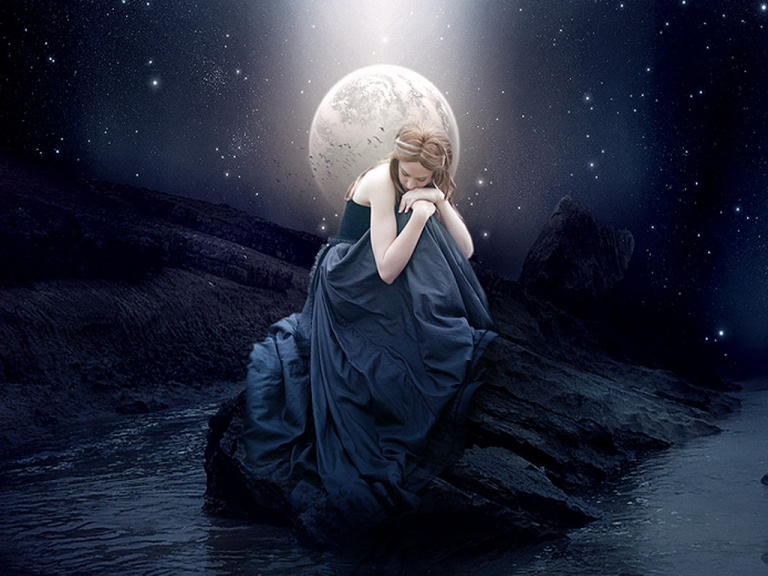 in_the_blue_night_moon_woman_abstract_hd-wallpaper-1607468