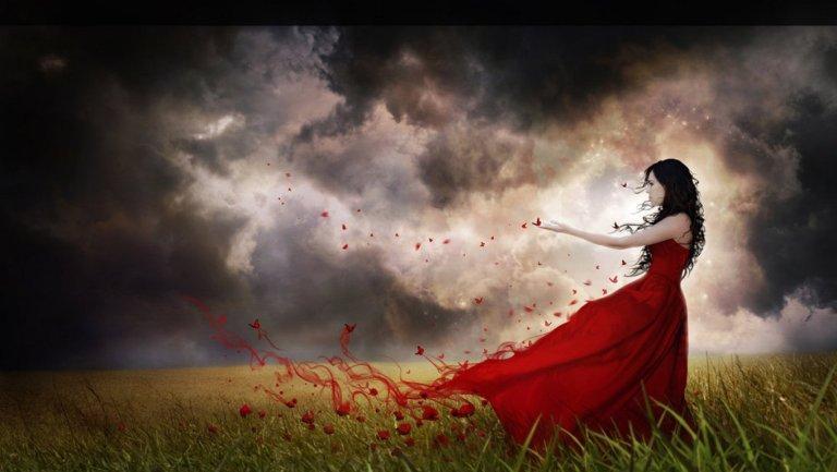 wallpaper-butterflies-red-and-woman