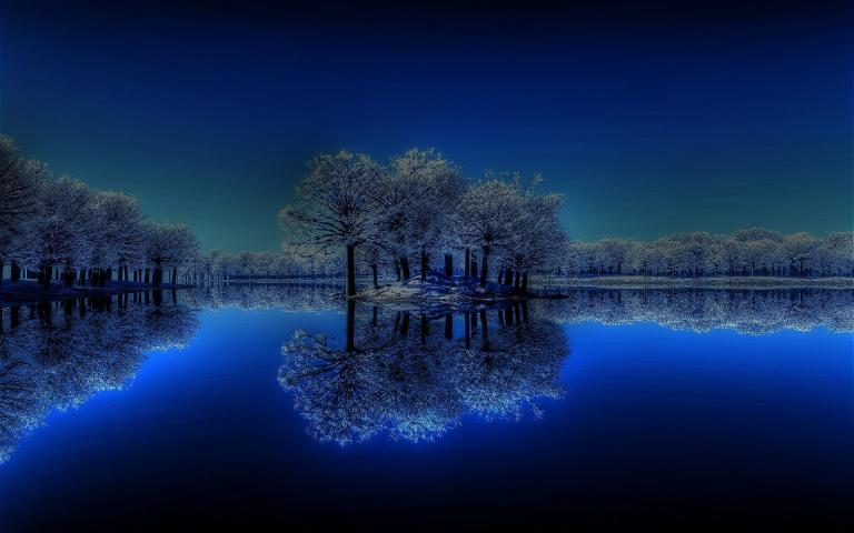 winter_night_in_the_lake