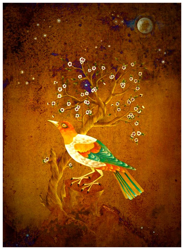 Image: Night Bird by esraart Traditional Art / Paintings / Other ©2008-2015 esraart