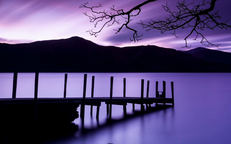 Ashness Landing, Derwentwater, Lake District National Park, Cumbria, England, U.K.