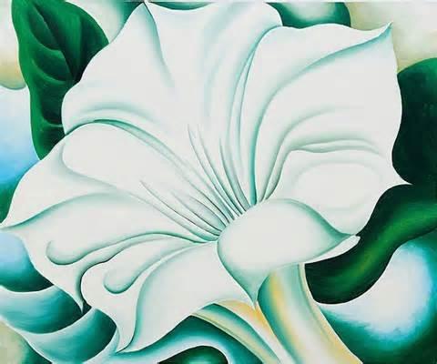 Artist: Georgia O'Keefe; White Trumpet Flower 1932