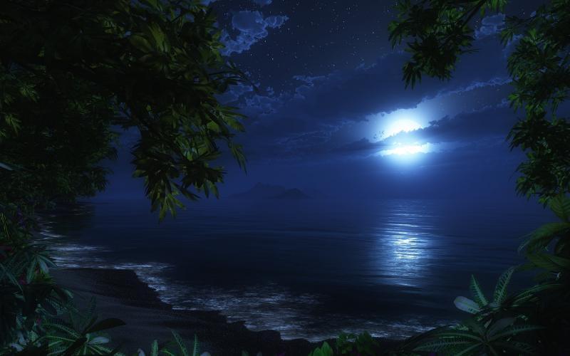 3d-abstract_hdwallpaper_moonlit-beach_29419