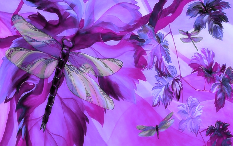 dragonfly-garden-wide-wallpaper-580535