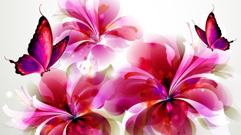 flowers-and-butterflies-digital-art-hd-wallpaper-1920x1080-8715