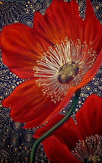 Image: Red Velvet Poppies - by Cherie Roe Dirksen