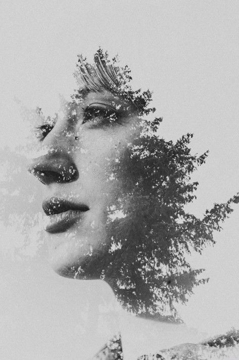 Image:Double exposure portraits by Sara K Byrne