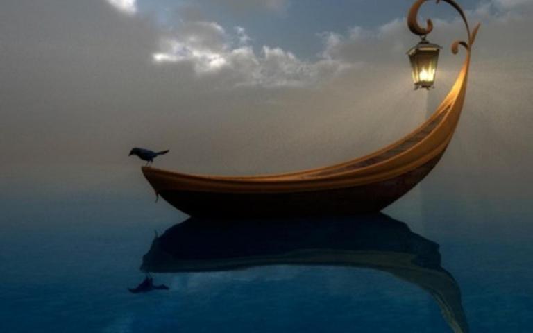 light_clouds_crow_lanterns_magic_sky_sea_1440x900_37855