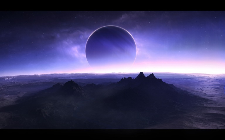 twilight-blue-moon-mountains