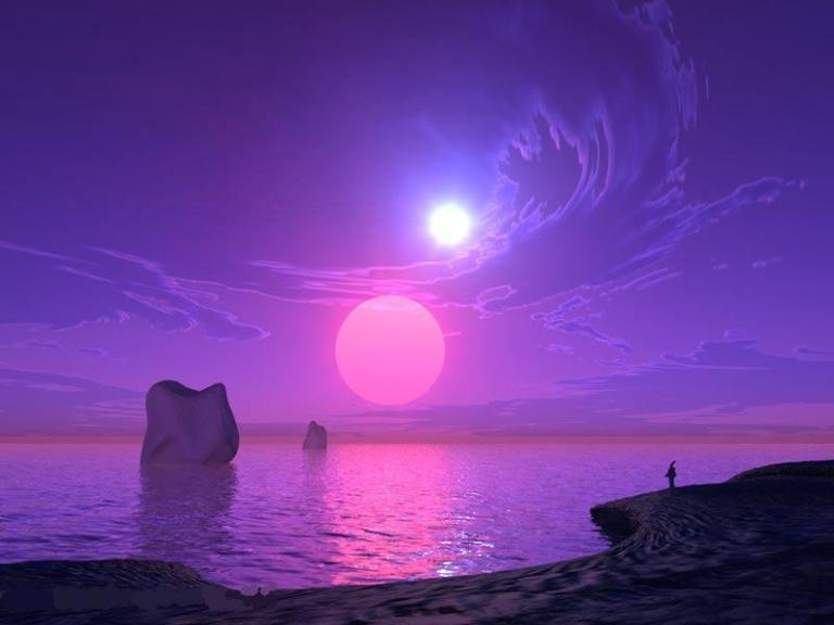 moon-light_nature_pink_water_sky_3d_blue_sea_hd-wallpaper-42788