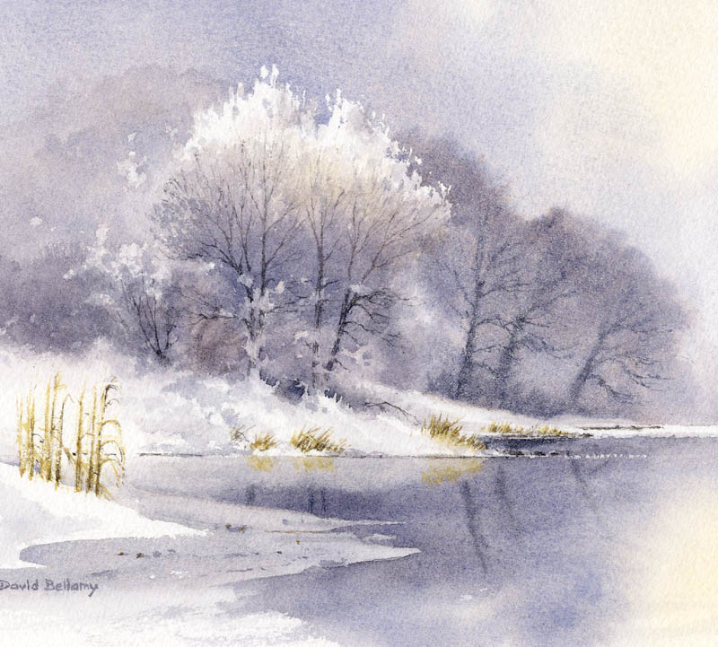 Winter trees in watercolor | Bellamy's Bivouac